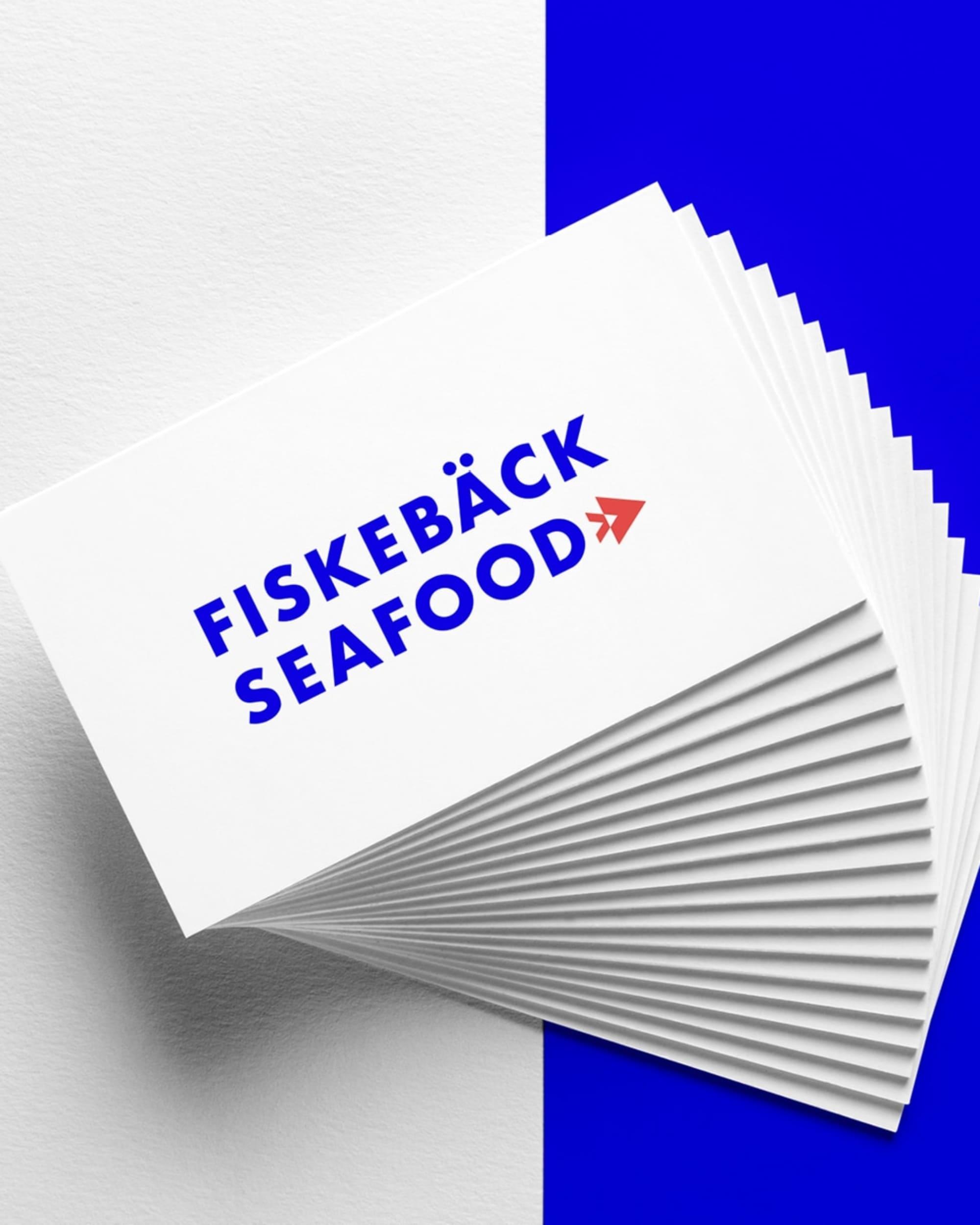seafood fiskebäck visitkort